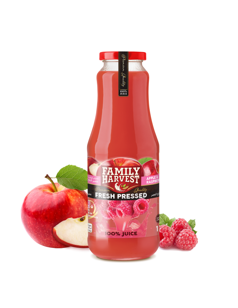 Family Harvest fresh pressed raspberry juice