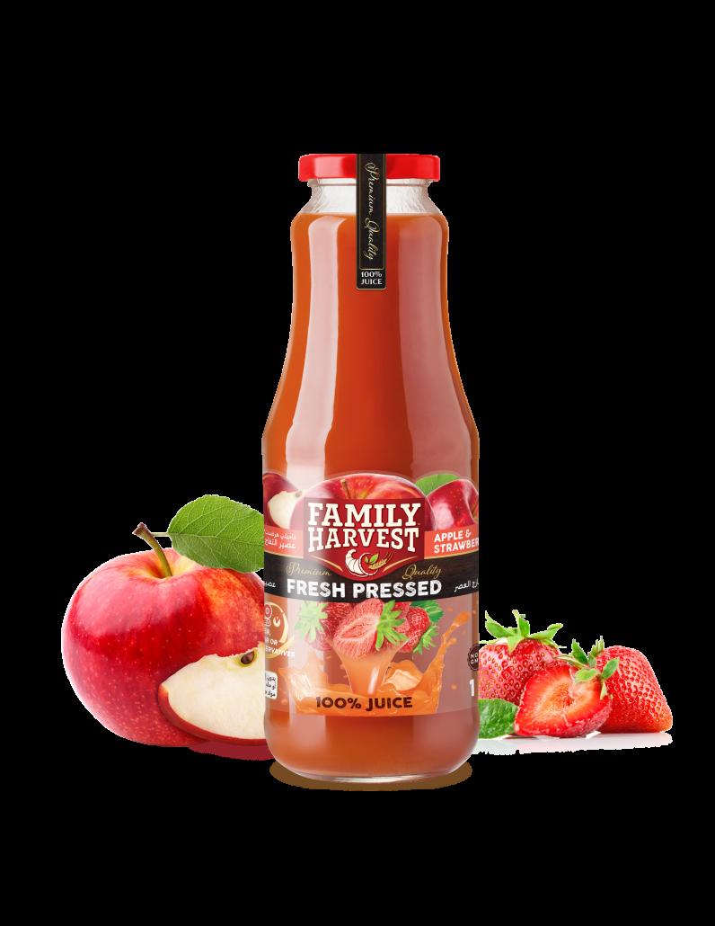 Family Harvest fresh pressed strawberry juice