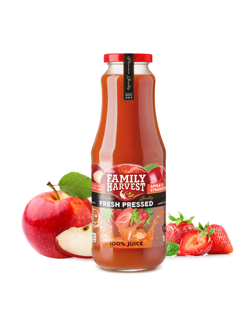 Family Harvest fresh pressed strawberry juice